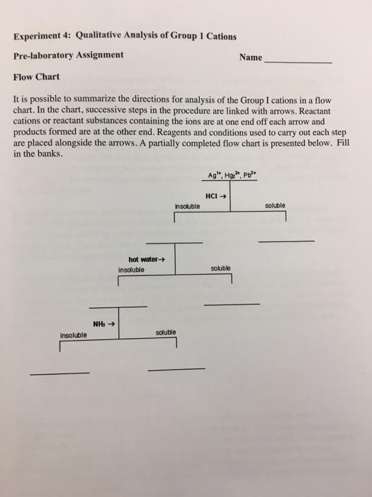 Solved Experiment 4 Qualitative Analysis Of Group 1 Cati Chegg Com
