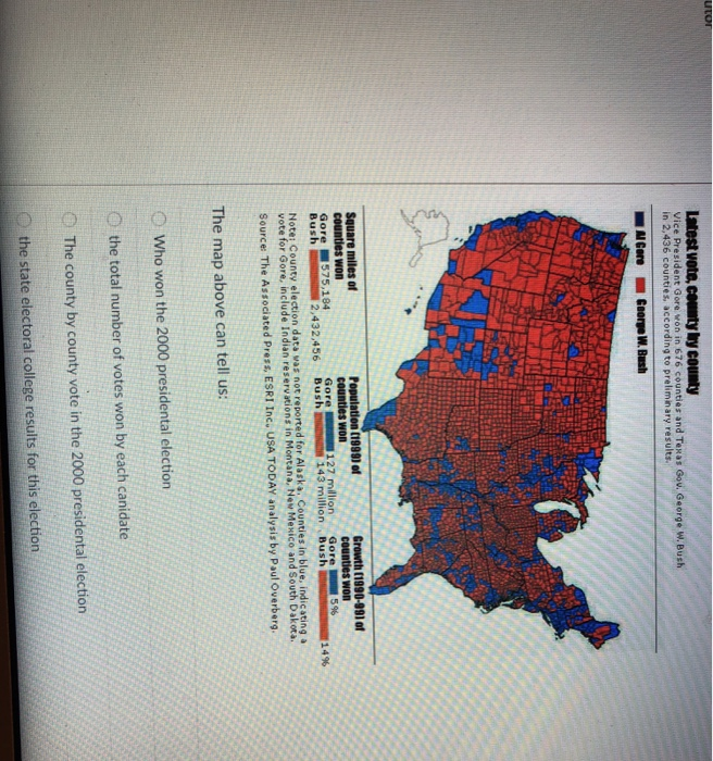 Solved: Note: County Election Data Vas Not Reported For Al ...