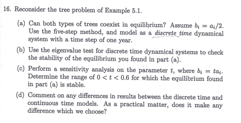 Math Modeling Example 5 1 Reconsider The Tree Pro