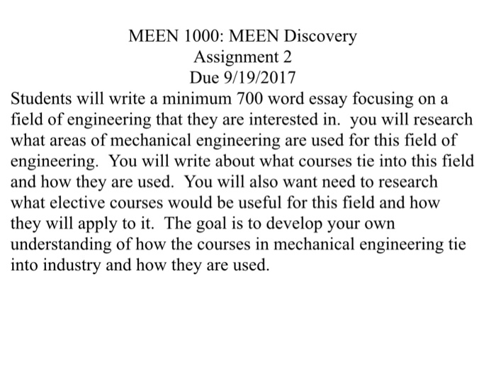 Solved Meen  Meen Discovery Assignment  Due   Meen  Meen Discovery Assignment  Due  Students Will Write Home Diy Projects Ideas also Samples Of Persuasive Essays For High School Students Science Fiction Essay