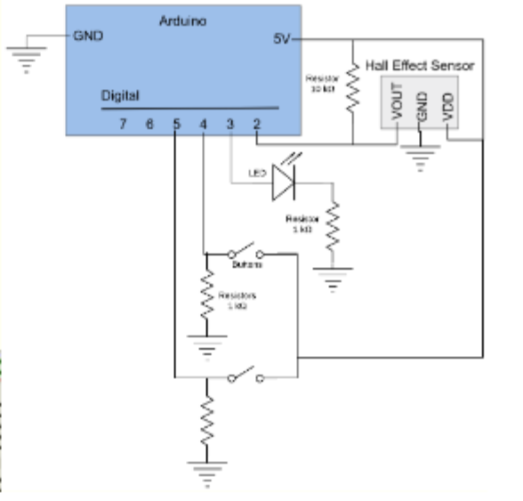 Solved: Arduino GND 5V- Hall Effect Sensor La Digital LES ... on