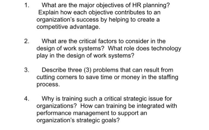 Operations management archive march 27 2017 chegg 1 what are the major objectives of hr planning explain how each objective contributes fandeluxe