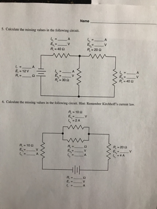 Solved: 8 Combination Circuits (Series-Parallel) Student A ...