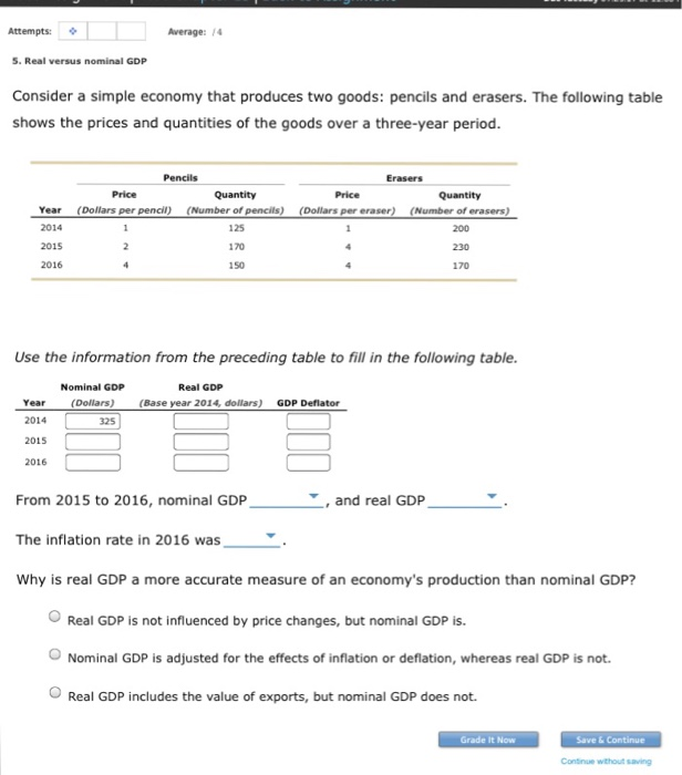real versus nominal gdp consider a simple economy that