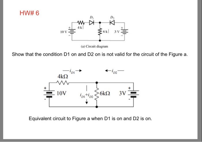 HW# 6 D. (a) Circuit Diagram Show That The Conditi... | Chegg.com