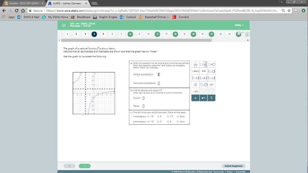 Question B Grades ECO 301 Q594 X Secure A ALEKS