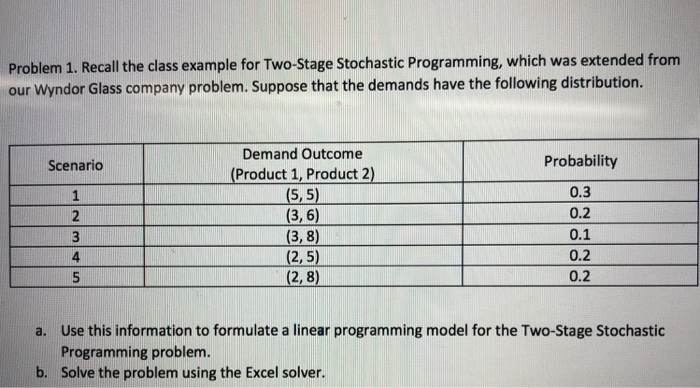 Class 1 Recall >> Problem 1 Recall The Class Example For Two Stage