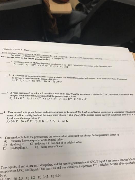 Physics Archive | February 21, 2017 | Chegg.com