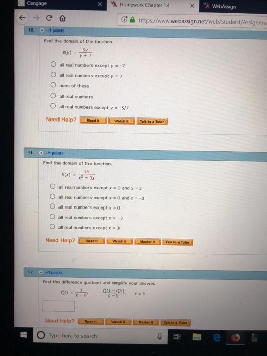Solved: Cengage A Homework Chapter 1 4 WebAssign ơe Https