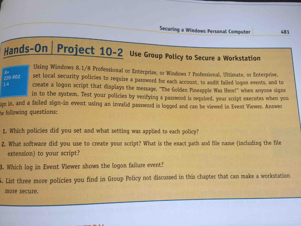 windows 8.1 group policy failed