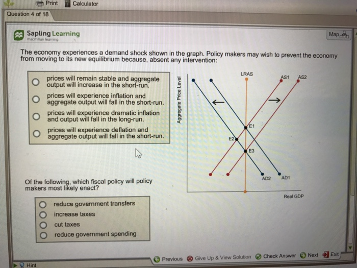 Solved Print Calculator Question Of Sapling Learning - Run calculator map