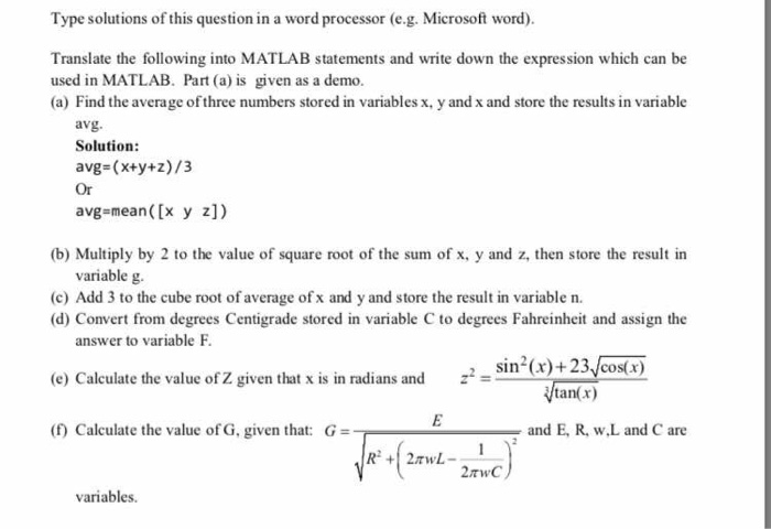 Question: Type Solutions Of This Question In A Word Processor (e.g. Microsoft  Word) Translate The Following.  Degrees In Microsoft Word
