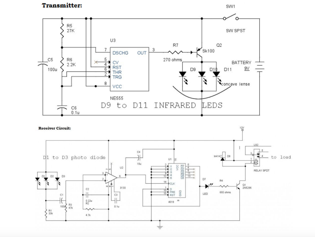 This Is An IR Remote Control Circuit Diagram For T    | Chegg com