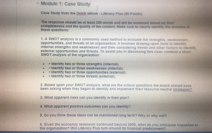 Operations management archive september 03 2017 chegg 4 module 1 case study case study from the dolch ebook literacy plus fandeluxe