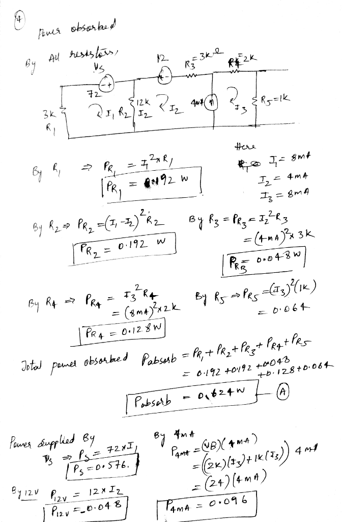 Solved Problem 1 50 Pts In Total 1 Write Kcl Equation