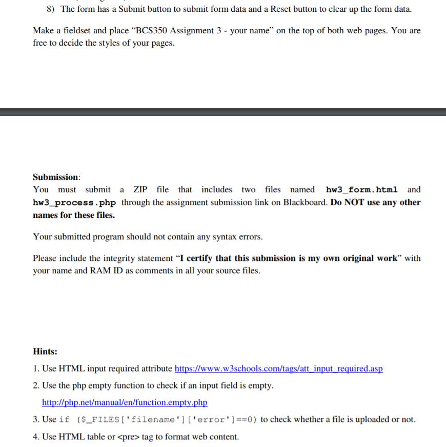 w3schools php file upload