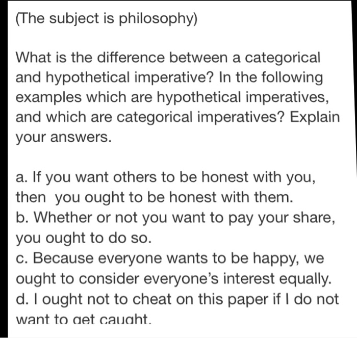 Solved The Subject Is Philosophy What Is The Difference