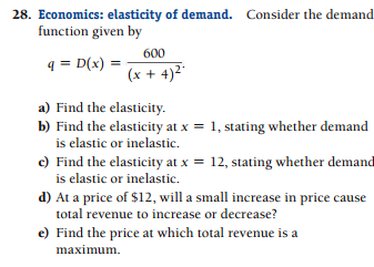 Solved P Economics Elasticity Of Demand Coider I Functi