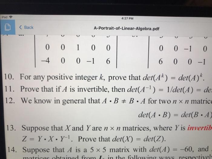Solved: IPad? 4:27 PM K Back A-Portrait-of-Linear-Algebra