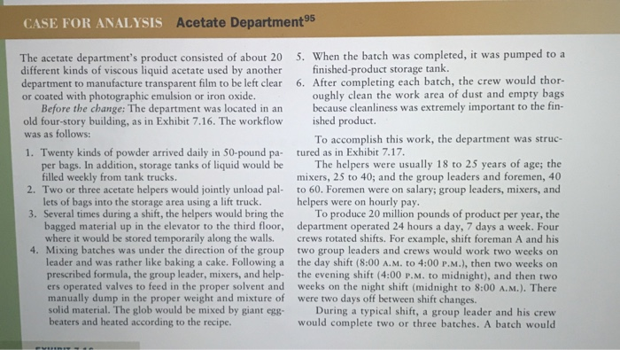 acetate department essay Cellulose acetate is the acetate ester of celluloseit was first prepared in 1865 cellulose acetate is used as a film base in photography, as a component in some coatings, and as a frame material for eyeglasses it is also used as a synthetic fiber in the manufacture of cigarette filters and playing cards.
