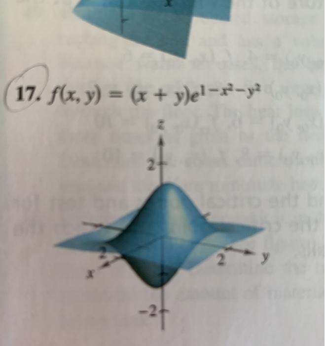 17. f(x, y) = (x + ylel-/-ya