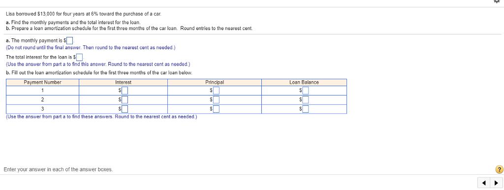 amortization calculator for car loan