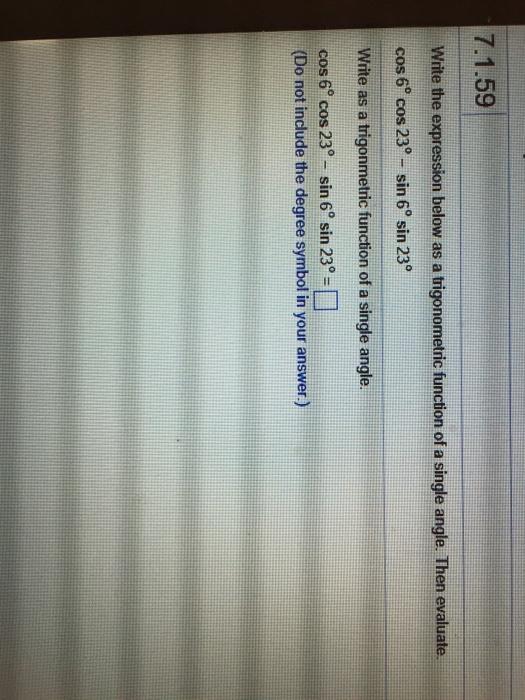 Solved Write The Expression Below As A Trigonometric Func