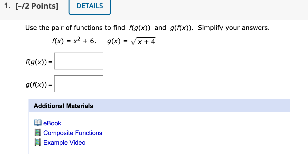 Solved M-25. Chapter 25.25: Composition of Functions  Chegg.com Pertaining To Composite Function Worksheet Answers