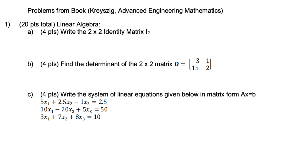 Solved: Problems From Book (Kreyszig, Advanced Engineering