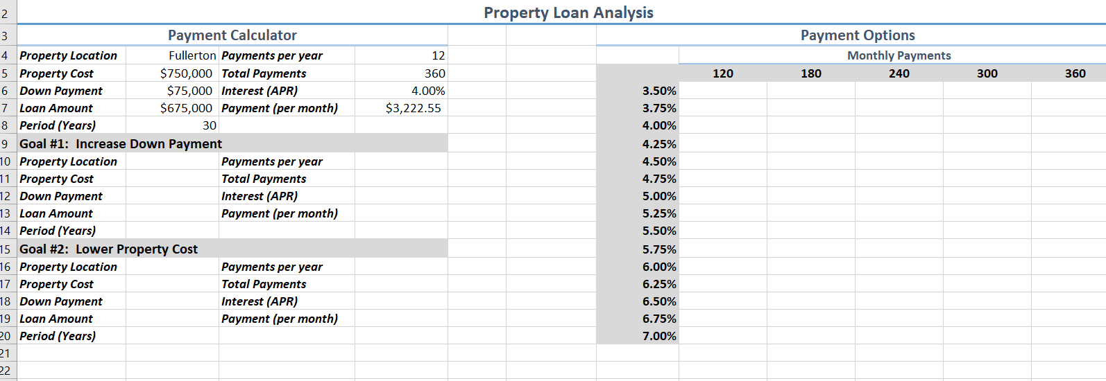 Down Payment Calculator >> Solved A In The Payment Calculator Use Goal Seek To K