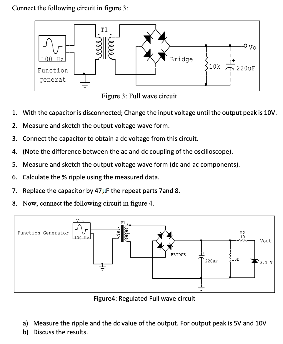 connect the following circuit in figure