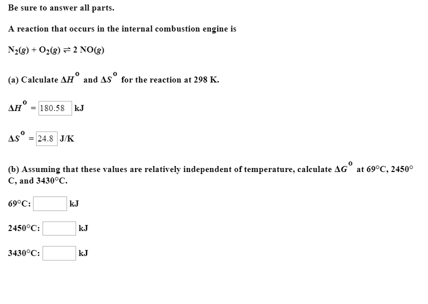 Be Sure To Answer All Parts A Reaction That Occurs