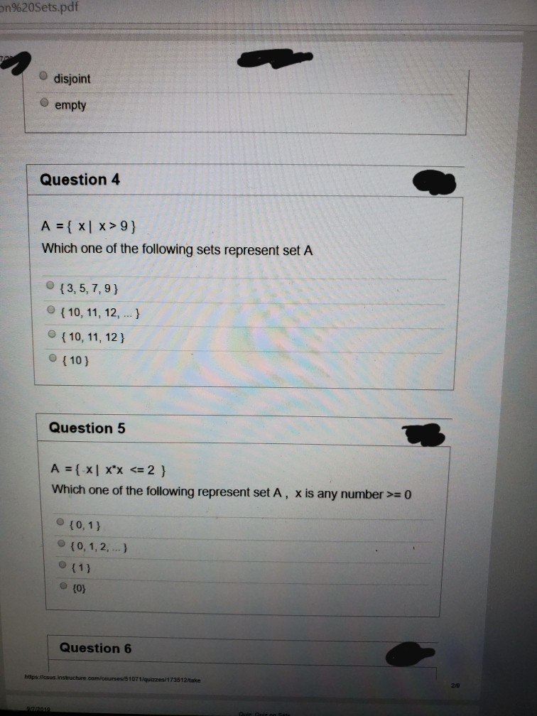Consider Set A And Set B  A Intersection B Means E