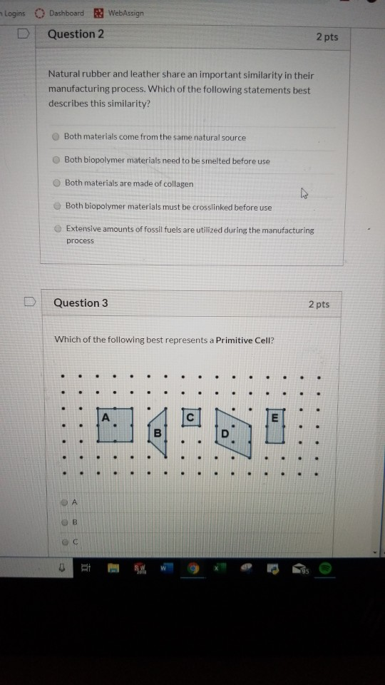 Solved: Logins D Dashboard WebAssign Question 2 2 Pts Natu