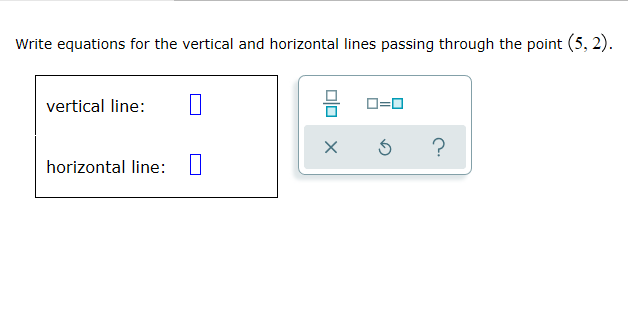 how to write equations of horizontal and vertical lines