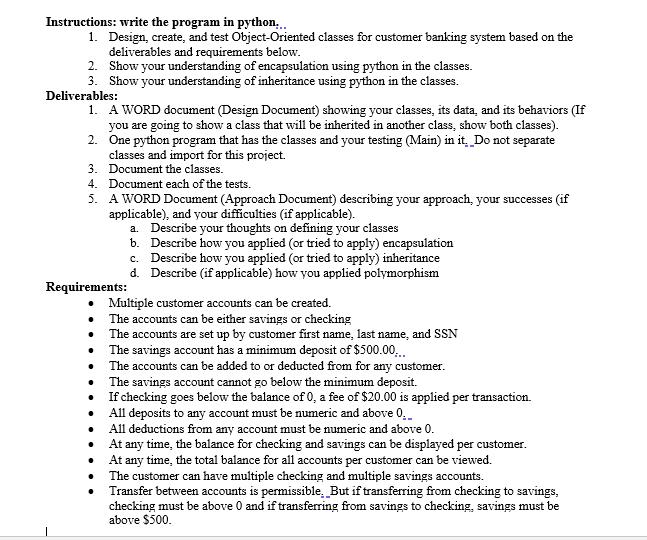 Instructions Write The Program In Python 1 De Chegg Com