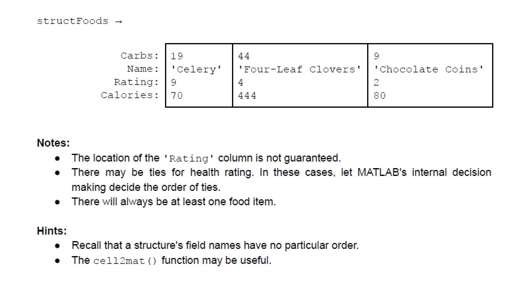 Solved Function Name celery Inputs 20. cell MxN cell   Chegg.com