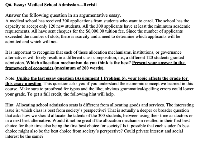 Medical School Admission Essay