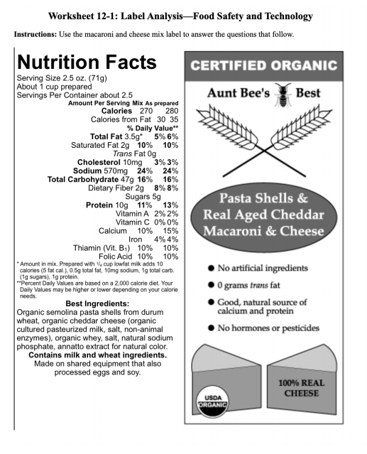Label Analysis-Food Safety