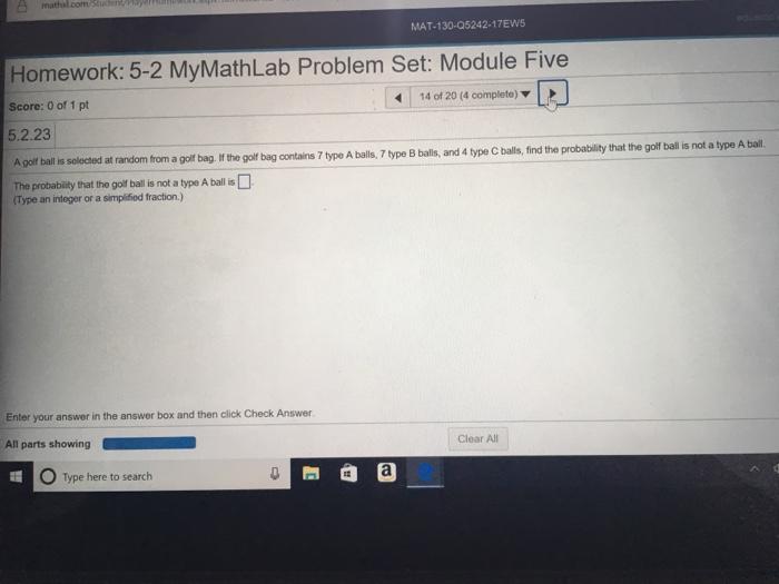 Mymathlab answers to homework