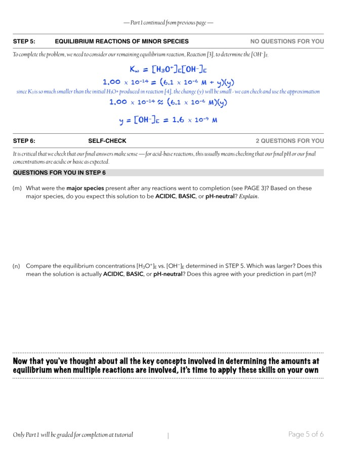 CHEM 203 Tutorial 5: Final PAR Solution Worksheet ...