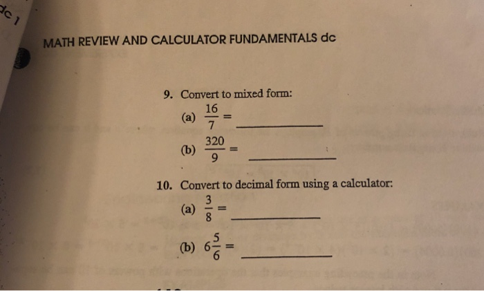simplest form math calculator  Solved: ERCISES Perform Each Of The Following Operations W ...