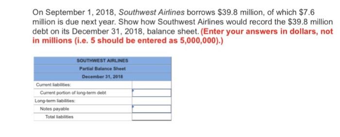 Southwest millions