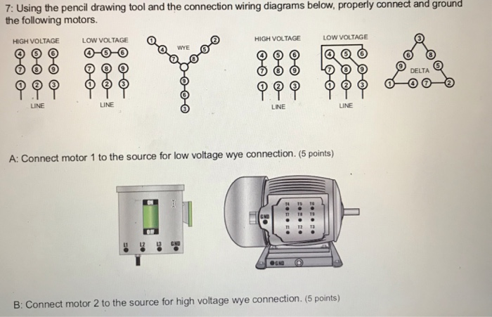 solved 7 using the pencil drawing tool and the connectio trane low voltage diagrams low voltage motor wiring diagram #6