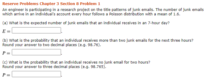 Solved Reserve Problems Chapter 3 Section 8 Problem 1 An Chegg Com