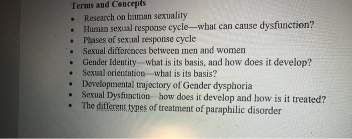 Different types of human sexuality