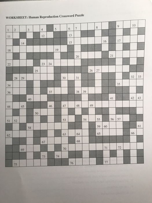 Asexual reproduction crossword