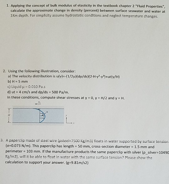 Solved: 1  Applying The Concept Of Bulk Modulus Of Elastic
