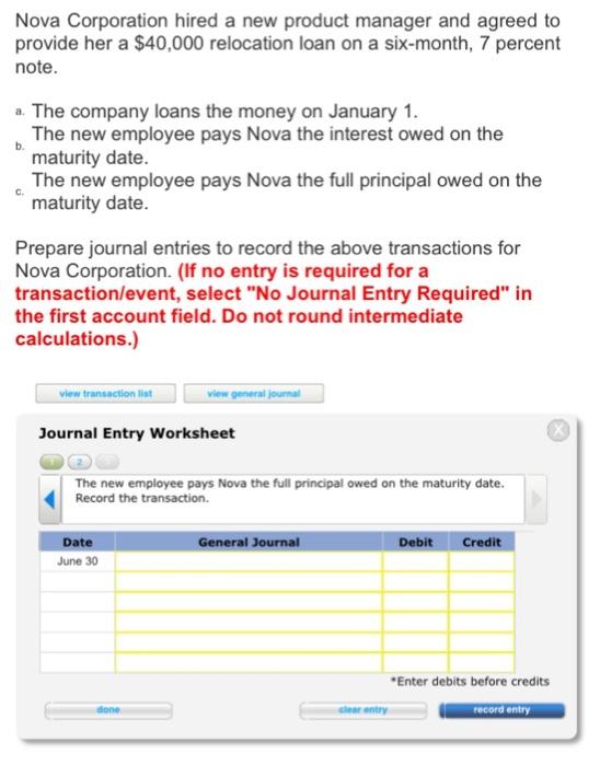 Maturity date of a loan