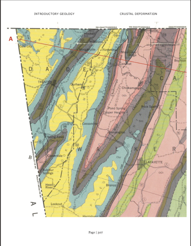 Geologic Map Of Georgia.Part D 24 Pts The Geological Map On The Followin Chegg Com